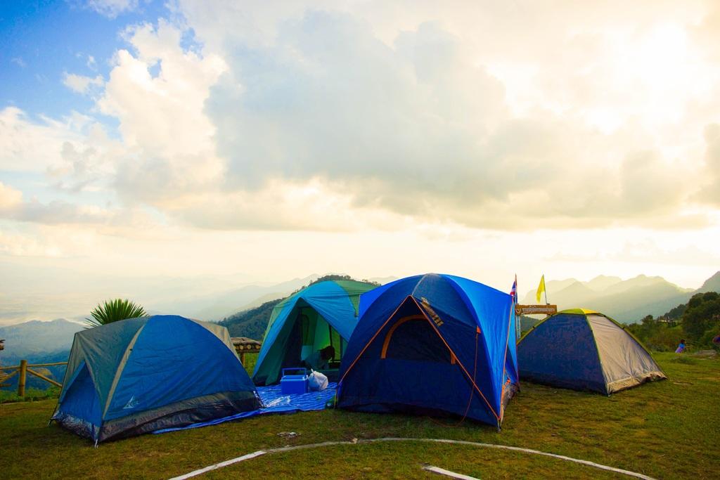 Att sätta upp ett tält